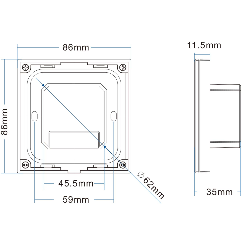 sys-pro singlecolor einbau-touch-fernbedienung 114443