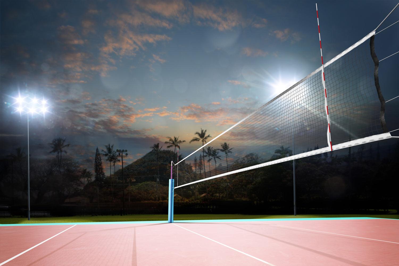 lichtanlagen led sportplaetze volleyball