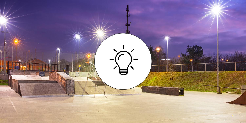 lichtanlagen led flutlicht anwendungsbeispiele