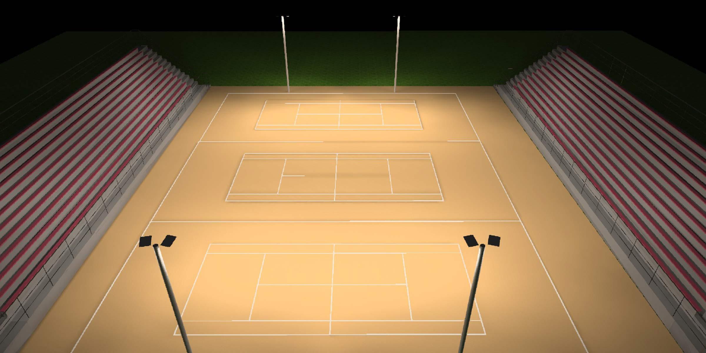 lichtanlagen led flutlicht lichtplanung tennis anlage