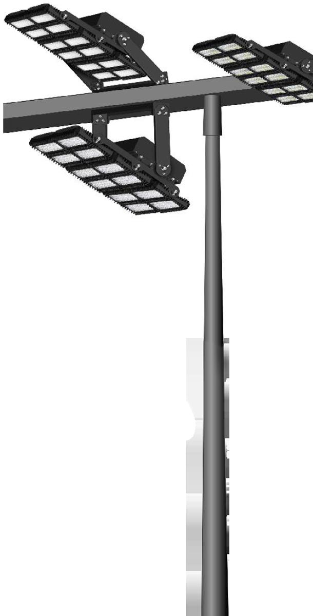 lichtanlagen led flutlichtmast konisch